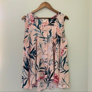 3for$20_Style & Co Floral Tank Blouse Size L